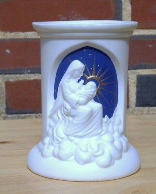 VINTAGE, FROM ESTATE, BLESSED MOTHER VASE WITH BABY JESUS, GOLD HALO