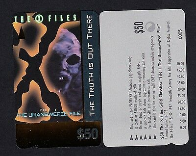 Pacificnet Australia $50 Phonecard MINT Condition Limited Edition X Files File1