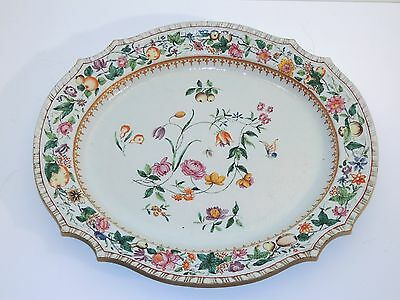 Chinese Export FAMILLE ROSE PLATTER - 18TH Century