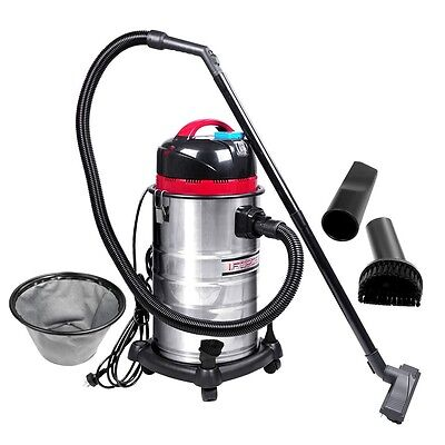 NEW Stainles Steel Body 30L Industrial Commercial Bagless Dry Wet Vacuum Cleaner