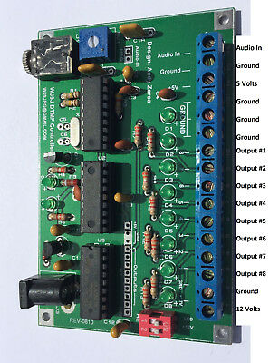 DTMF Decoder Repeater Beacon Home automation Controller 8 Outputs Relay driver