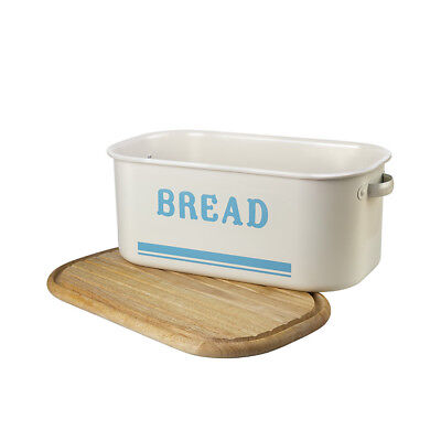 NEW Jamie Oliver Bread Bin Blue with Chopping Board (RRP $126)