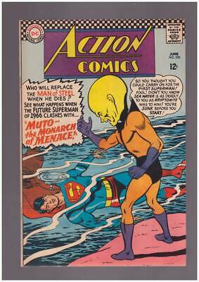 Action Comics # 338 Muto -- the Monarch of Menace ! grade 3.5 hot scarce DC !