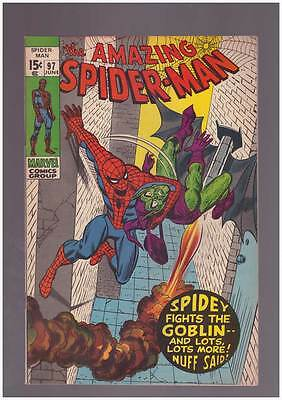 Amazing Spider-Man # 97  Spidey Fights the Goblin ! grade 8.5 scarce hot book !!