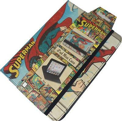 Superman: Vintage Art Tri Fold iPad MINI Case New & Official DC Comics With Tag