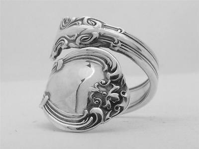 STERLING SILVER demitasse spoon ring CHANTILLY by GORHAM (1895)