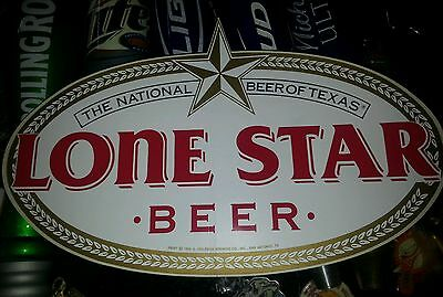 Vintage Long Star Sticker The National Beer OF Texas 10 X 6.5 inches long. 1988