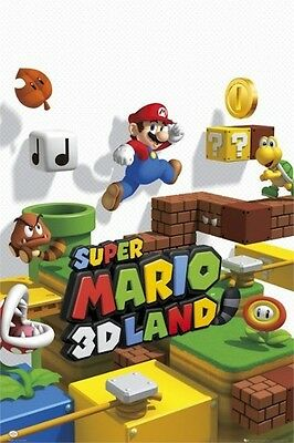 SUPER MARIO ~ 3D LAND 24x36 VIDEO GAME POSTER Brothers Nintendo NEW/ROLLED!