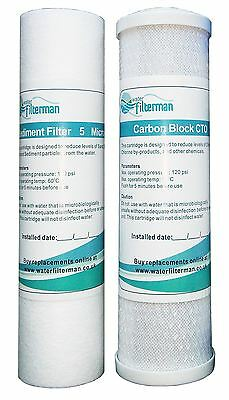 "RO Reverse Osmosis pre filters 10"" Carbon Block & Sediment Filter - New"