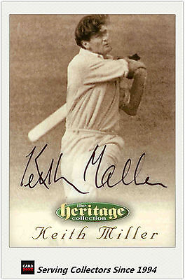 1996 Futera Cricket Heritage Collection Signature Card NO11 Keith Miller