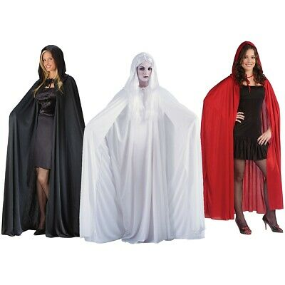 Hooded Cloak Adult Long Cape with Hood Masquerade Halloween Costume Fancy Dress