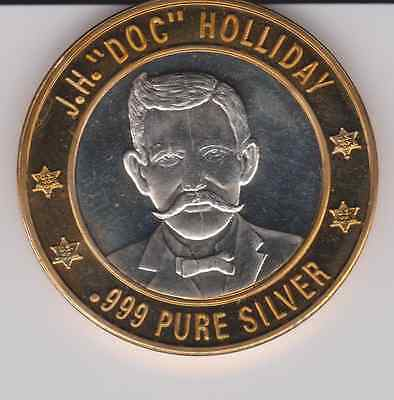 "Lawman I - J.H. ""Doc"" Holliday - Silver Strike - .999 Pure Silver"