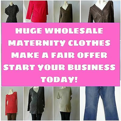 50pc NEW Wholesale Liquidated closeout MATERNITY CLOTHES LOT tops bottoms jeans