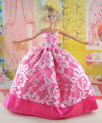 hot New Handmade Party Clothes Fashion Dress for Noble Doll *y83