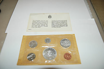 1964 Canadian Uncirculated 6 Coin Set  Charlottetown, Quebec COA & envelope WOW