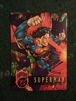 Superman, Ouburst, Firepower DC Promo Card, Embossed, Premiere Edition, 1996