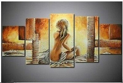 5PC Half-naked woman sitting Canvas Art Oil Painting wall hangi (no framed) 028