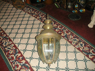 Vintage Barn Lantern Lamp-Beveled Glass-2 Light Interior-Country Decor-Lamp #2