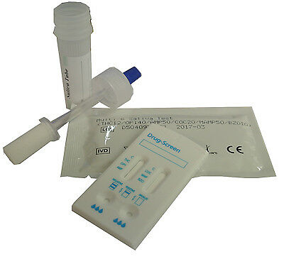 5 Saliva Drug Testing Kit -Oral Screening For 7 Substances - Police Driving Test
