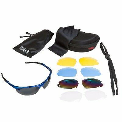 CHEX Ace Sailing Sports Sunglasses 5 Interchangeable Lenses Inc Rainbow & Clear