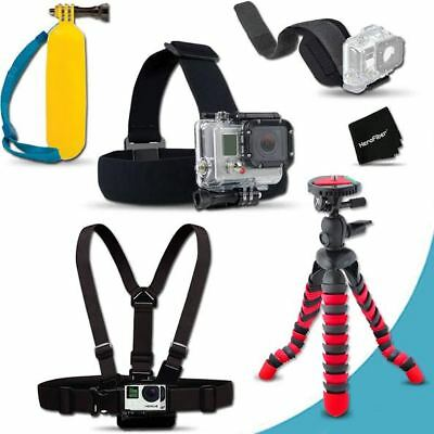 Xtech® Ultimate MOUNTS Acc Kit w/ Head Strap + MORE f/GoPro Hero 4 Blk Edition