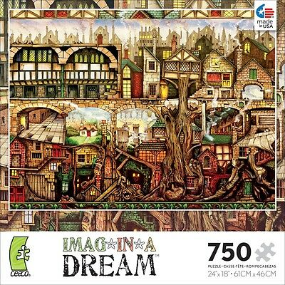 CEACO IMAG*IN*A*DREAM JIGSAW PUZZLE TREETOWN COLIN THOMPSON 750 PCS