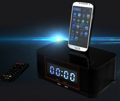A8s NFC Bluetooth docking speaker Supported Radio Alarm Clock for Samsung LG HTC