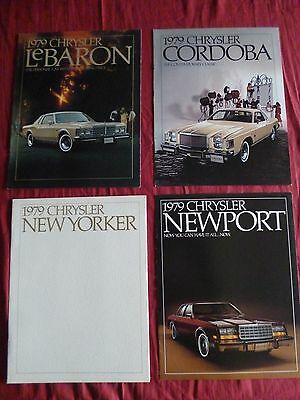 13/  4 catalogues english text CHRYSLER gamme 1979