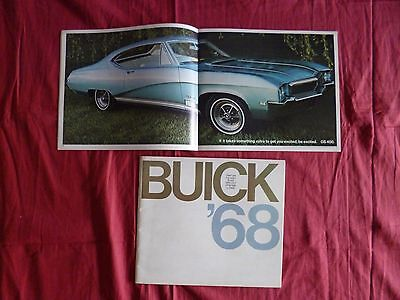 2/ BUICK catalogue english text gamme 1968 sur 76 pages