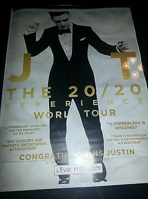 Justin Timberlake The 20/20 Experience Tour Rare Live Nation Promo Poster Ad!