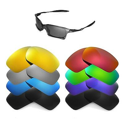 Walleva Replacement Lenses for Oakley X Squared Sunglasses - Multiple Options
