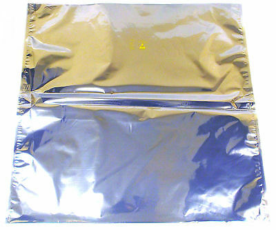 """LOT OF 5 NEW ANTI STATIC SHIELDING BAGS 17"""" x 17"""" OPEN TOP"""