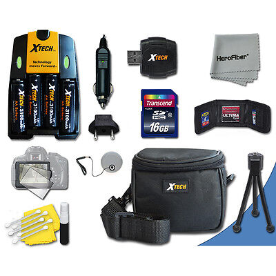 Ideal Accessory Kit for Canon Powershot SX160 IS SX150 IS SX130 IS SX120 IS