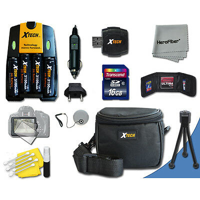 Ideal Kit 16GB Memory + Bts + Case + More for Canon PowerShot SX130 IS Camera
