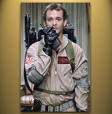 GHOSTBUSTERS Bill Murray Signed Print Poster Original artwork CANVAS POP ART