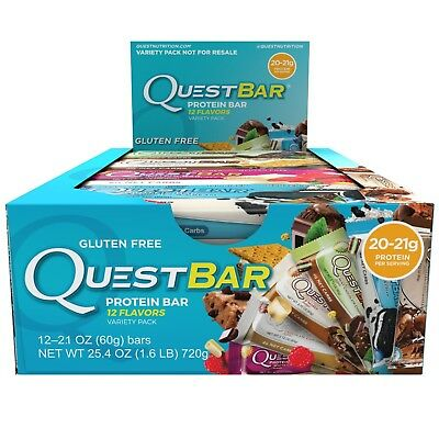 Quest Nutrition PROTEIN BARS Variety 12-PACK FREE EXPEDITED SHIPPING