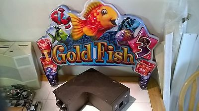 WMS GAMING SLOT MACHINE GOLD FISH 3 TOPPER WITH LED BOARD