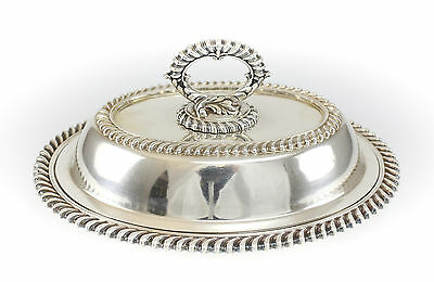 E.G. Webster & Sons American Silverplate Vegetable Serving Dish, c1860