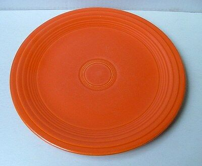 "VINTAGE HOMER LAUGHLIN FIESTA WARE RED ORANGE 9 1/2"" DINNER LUNCH PLATE #2277x"