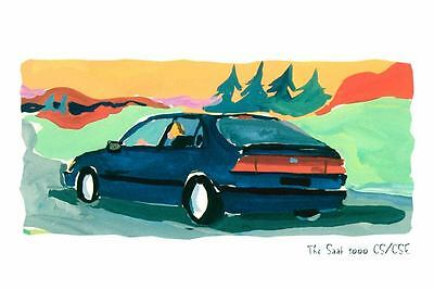1995 Saab 9000 CS & CSE ORIGINAL Large Factory Postcard my1953