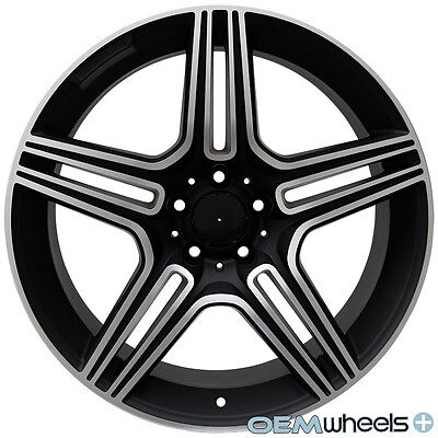 """20"""" BLACK MACHINED WHEELS FITS MERCEDES BENZ AMG CLS E S SL WAGON STAGGERED RIMS"""