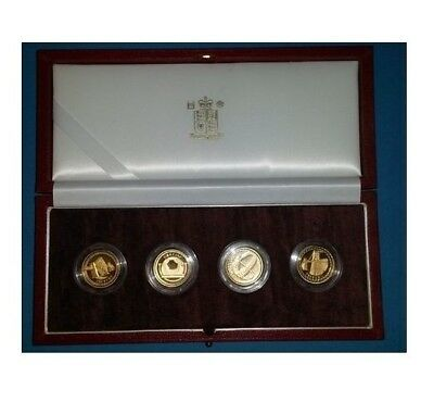 2003 £1 UK Bridges Pattern Collection (4 x 18gram 22k) Gold Proof - Royal Mint