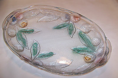 """PLATTER MIKASA GLASS LARGE OVAL  15 3/4"""" BY 10"""""""