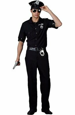 Adult NEW YORK COP Policeman USA Cop Police Fancy Dress Costume Mens Outfit