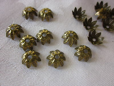 50 Bronze Coloured 10mm Flower Bead Caps #bc2027 Combine Postage-See Listing