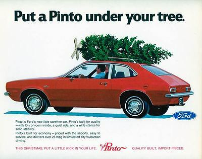 1971 Ford Pinto ORIGINAL Large Factory Postcard my2053