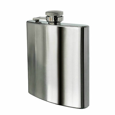8oz Hip Flask Stainless Steel Christmas Wedding Graduation Party Camping Gift UK