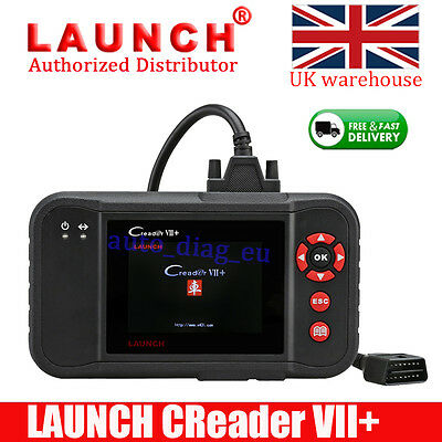 LAUNCH X431 Creader VII+ 7+ Auto Car OBD2 Code Reader Diagnostic Scan Tool UK