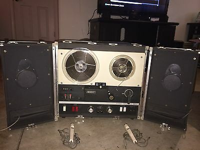 VINTAGE SONY 500 A REEL TO REEL TAPE RECORDER - WORKS GREAT ~ PORTABLE