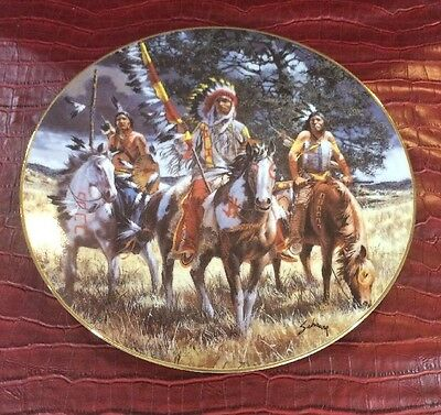 Soulful Reflection Footsteps Of Brave Harry Schaare Indian Horse Collector Plate